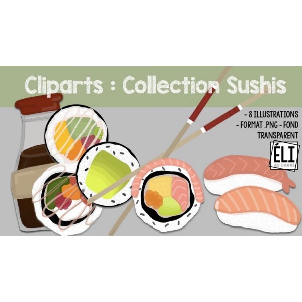 Cliparts : Collection sushis