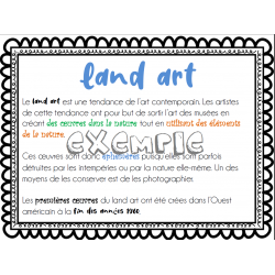 Arts plastiques - land art