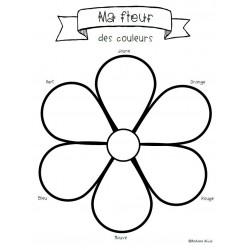 Mélange de couleurs - Ma fleur des couleurs