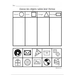 Classification d'objets selon leur forme