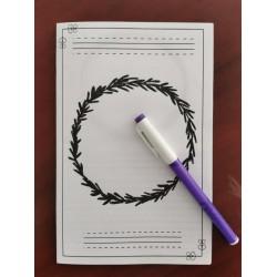 Plan et cahier pour écriture d'un récit