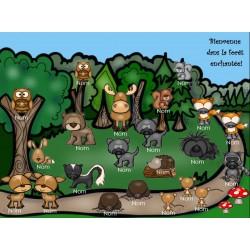 Présences du matin - Animaux de la forêt