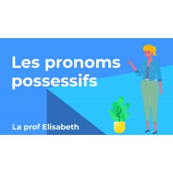 Les pronoms possessifs en français. FLE