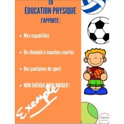 Affiche Éducation physique