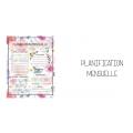 Planificateur roses (5 périodes)
