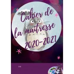 cahier de la maitresse 2020 / 2021