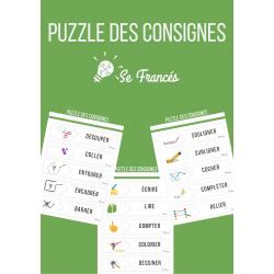 Puzzle des consignes de l'école