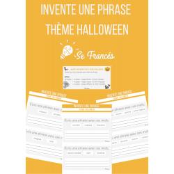 Invente une phrase - mots | Thème Halloween