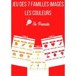 Jeu des 7 familles imagés - Les couleurs