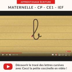 Vidéos Écriture : les lettres cursives minuscules