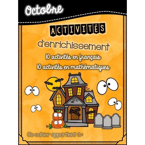Cahier d'enrichissement - octobre