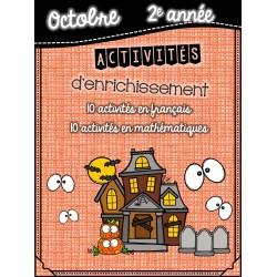 Cahier d'enrichissement 2e année  - octobre