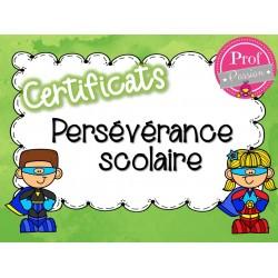 Certificats persévérance scolaire
