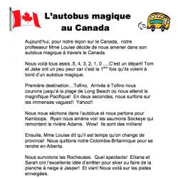 L'autobus magique au Canada