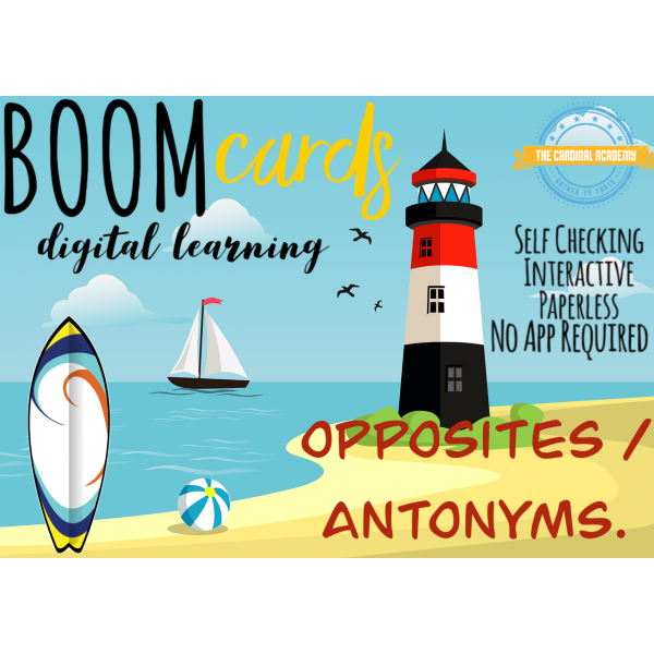 Learn Opposites with Type in Boom cards