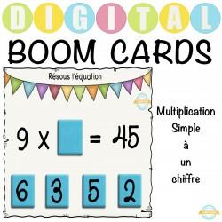 Multiplication simple à un chiffre - Boom Cartes™