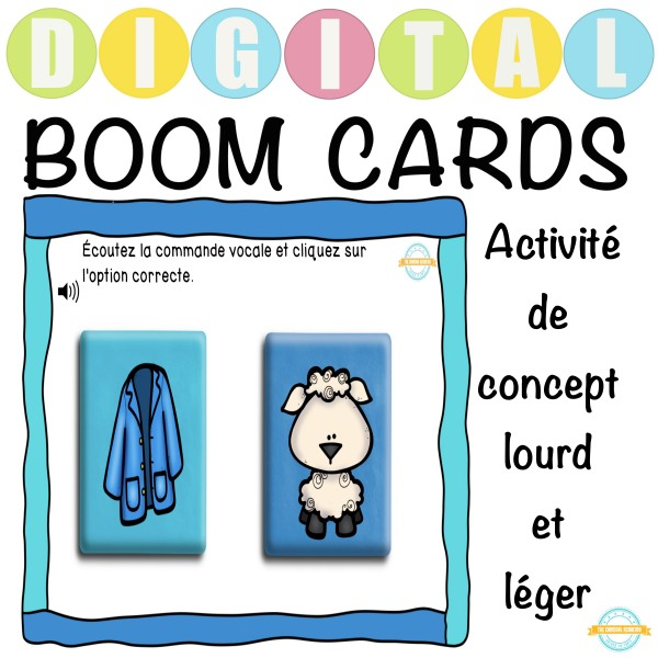 Activité de concept lourd et léger - Boom Cartes ™
