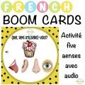 Activité Five Senses avec audio - Boom Cartes