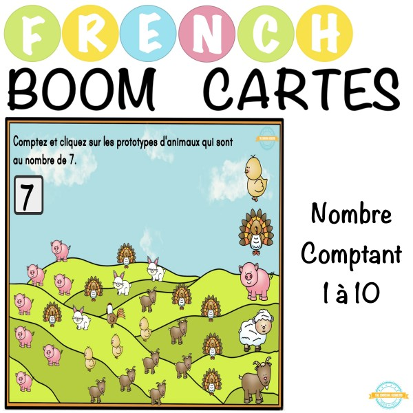 Nombre Comptant 1 à 10 - French Boom Cartes.