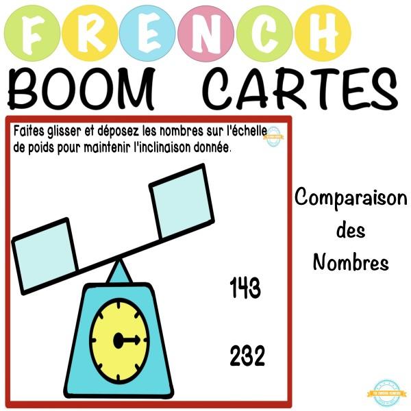 Comparaison des Nombres - French Boom Cartes