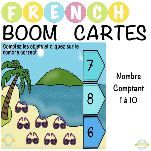 Nombre Comptant 1 à 10 - French Boom Cartes
