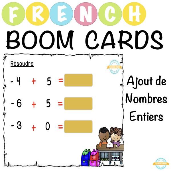 Ajout de nombres entiers - French Boom Cartes™