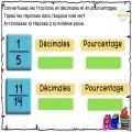 Fractions, décimales et pourcentage
