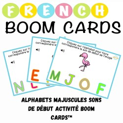 Alphabets majuscules sons de début activité