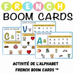 Activité de l'alphabet French Boom Cards ™