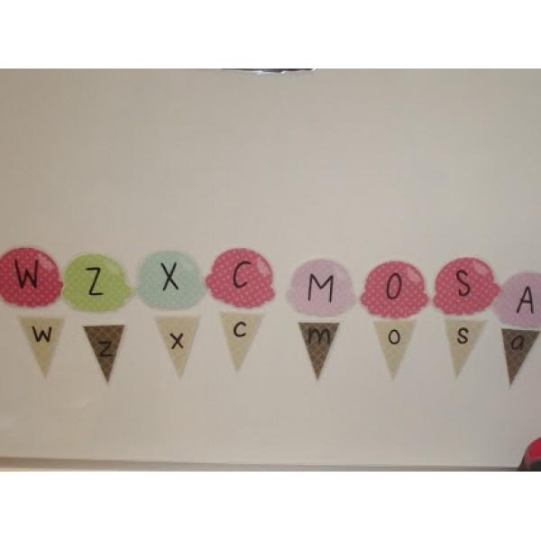 Cornets: associer majuscules aux minuscules