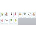 Mots-étiquettes à recopier château