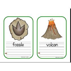 Mots-étiquettes dinosaures à recopier