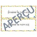 Affichettes pour noms - Fleurie