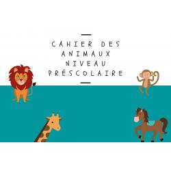 Cahier sur les animaux 4-6 ans