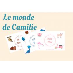 Affichettes de couleurs bilingues