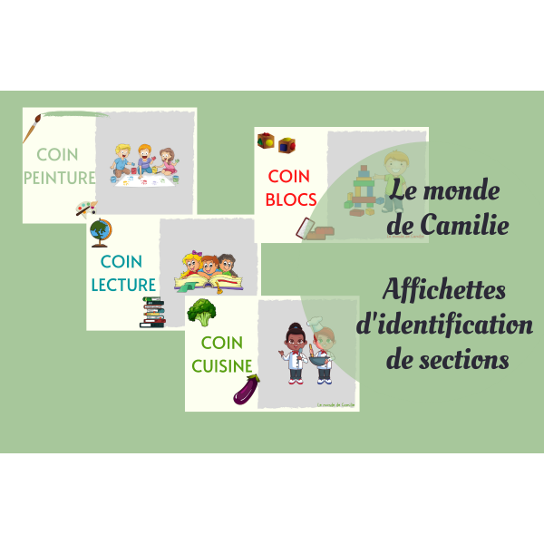 Identification des coins / sections du local