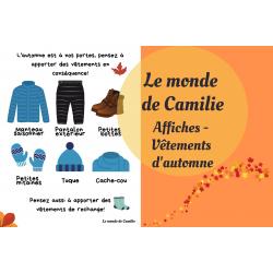 Affiche - Apporte tes vêtements d'automne!