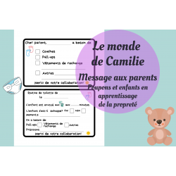 Message quotidien aux parents (propreté)