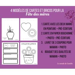 4 idées de cartes et bricos pour la fête des mères