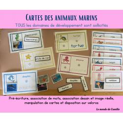 Cartes de animaux marins