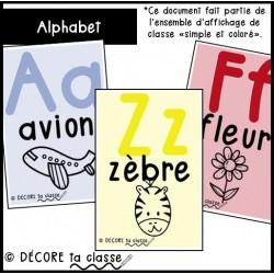 Alphabet - ensemble simple et coloré