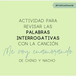 Palabras interrogativas con una canción (espagnol)