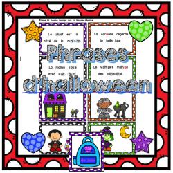 Lis et associe - Phrases d'halloween