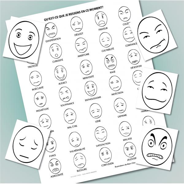 Cliparts des émotions