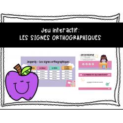 Jeu interactif: Les signes orthographiques