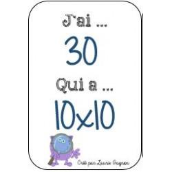 J'ai.. Qui a? - Multiplication 1 à 10