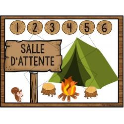 Affiche « Salle d'attente » Thème de la forêt