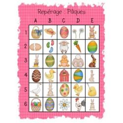 Atelier de Pâques : Maths,  le repérage