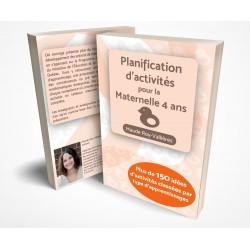 Planification d'activités pour la Maternelle 4 ans