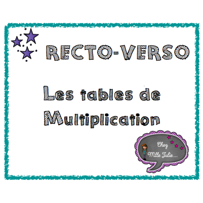 Tables de multiplication jeu recto verso for Table de multiplication de 7 jeux